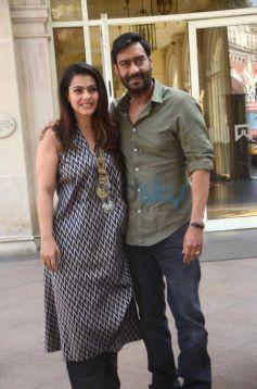 Ajay Devgan And Kajol At Manthan Aaj Tak At Itc Mumbai