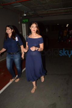Ileana D'cruz Rocked A Blue Casual Dress At The Airport