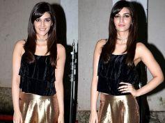 Kriti Sanon Dazzles In Golden Pants At Mehboob Studio