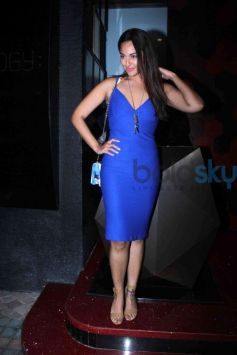 Sonakshi In Blue Dress For An Event