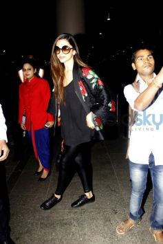 Deepika Padukone In H&M X Kenzo Outfit Spotted At Airport