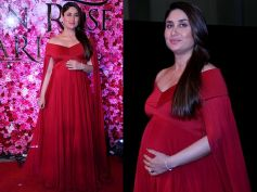 Kareena Kapoor Looks Stunning In Red Gown By Designer Gauri And Nainika For Lux Golden Rose Awards