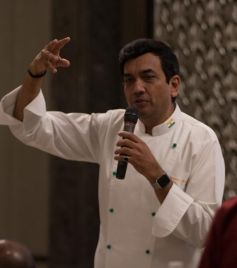Sanjeev Kapoor At Singapore Airlines Event