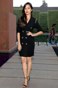 Shraddha Kapoor In Black Coat Dress For Rock On 2 Promotions