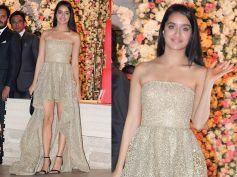 Shraddha Kapoor Poses For The Cameras At The Ambani Wedding Bash