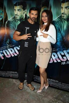 Sonakshi Sinha In Beige Skirt For Force 2 Promotions