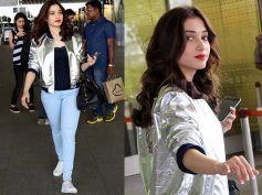 Tamannaah Bhatia Looking Cool In Casuals At Mumbai Airport
