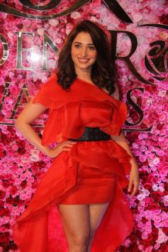 Tamannaah Bhatia Looks Hot In Outfit By Gauri And Nainika For Lux Golden Rose Awards