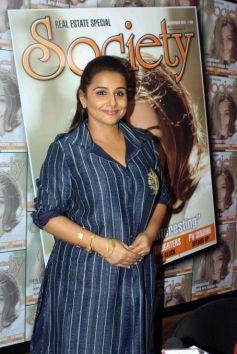 Vidya Balan Unveils Society Magazine