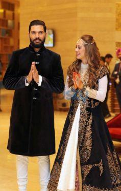 Yuvraj Singh And Hazel Keech's Mehendi Ceremony Is In Full Swing