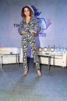 Kangana Ranaut Stuns In Monochrome At Times Lit Fest