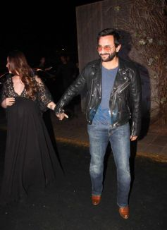 Kareena And Saif Along With Karishma Kapoor At Manish Malhotra's 50th Birthday Bash