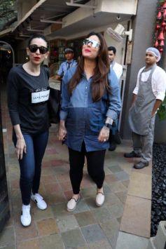 Pregnant Kareena Kapoor Snapped With Sister Karishma