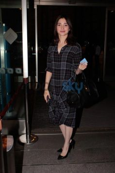 Tamannah Style Her Checkered Dress With Black Pumps