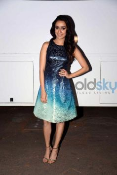Shraddha In Ombre Blue Dress Promotes Ok Jaanu