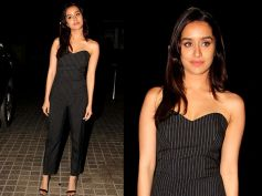 Shraddha Kapoor Looks Pretty In Black Dress At OK Jannu Promotions