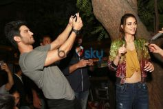 Sushant Singh Rajput And Kriti Sanon At Unplugged Cafe In New Delhi