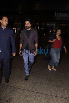 Ayushmann Khurrana And Bhumi Pednekar Spotted At Airport