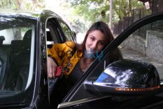 Photos of Soha Ali Khan Spotted At Hakilm Alam Studio.