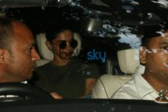 Ranveer Singh,Deepika Padukone And Varun Dhawan Spotted At Recording Studio Juhu