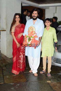 Sanjay Dutt,Jaya Bachchan Visit Her CA Rajesh Yadav's Ganpati Festival