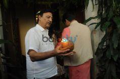 Sanjay Dutt Son & Vivek Oberoi Gets Ganpati Bappa Home