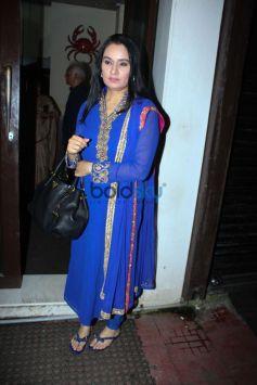 Sunil Shetty Family,And Shraddha Kapoor  Spotted At Bastian Restaurant Bandra