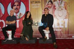 Toilet Ek Prem Katha AkshPhotos of Akshay Kumar and Others At Press Conferay Kumar Press Conference.