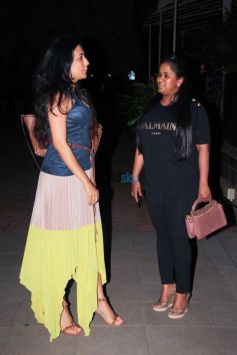 Arpita,Ayush Sharma,Kabir Khan And Mini Mathur  Spotted At BKC Bandra
