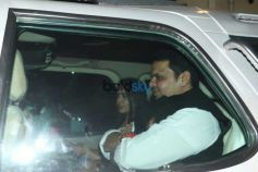 CM Fadnavis With His Wife Spotted At Aamir Khan's House
