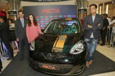 Dia Mirza At Launch Of Nissan Micra Fashion Edition, In New Delhi