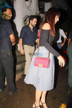 Emraan Hashmi With Wife At Olive