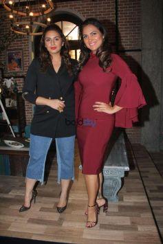 Huma Qureshi And Lara Dutta At Shoot Of Miss Diva 2017 Special Segment