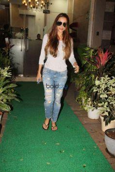 Malaika Arora Spotted At Salon In Mumbai