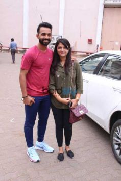 Nike Snapped Ajinkya Rahane And Harmanpreet Kaur In Mumai