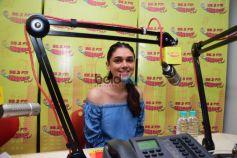 Sanjay Dutt And Aditi Rao Hyadari At Radio Mirchi Studio Promoting Bhoomi
