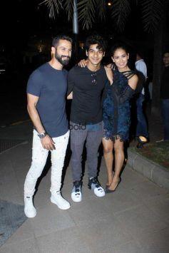 Shahid Kapoor Celebrate Mira Rajput BirthDay With Ishan In Mumbai