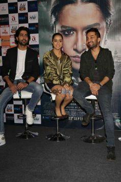 Shraddha Kapoor, Siddhanth Kapoor And Apoorva Lakhia Promoting Haseena Parkar , In New Delhi