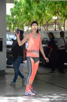 Urvashi Rautela Spotted At T Series Office