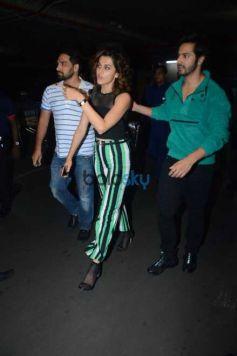 Varun Dhawan And Taapsee Pannu Spotted At Airport Mumbai