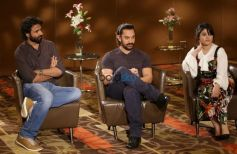 Aamir Khan With Zaira Wasim At An Exclusive Photoshoot And Press Meet, In New Delhi
