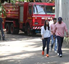 Abhishek,Aishwarya Rush To Aishwarya's Parents Apartment After Fire Breaks Out