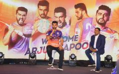 Arjun Kapoor Press Meet Of FC Pune City At J W Marriott