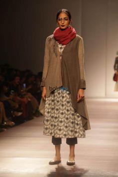 Designer Anju Modi At Amazon India Fashion Week In New Delhi