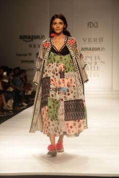Designer Pallavi Singhee At Amazon India Fashion Week In New Delhi