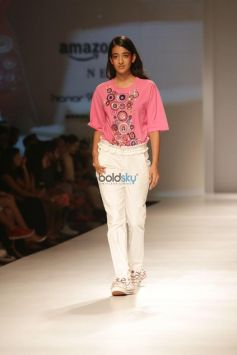 Designer Unleashed Show, Nargis Fakhri Walked The Ramp At Amazon India Fashion Week, In New Delhi
