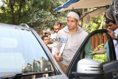 Farhan Akhtar Spotted At B Blunt Salon