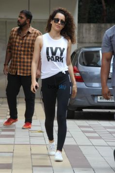 Kangana Ranaut Spotted At Outside Her Gym