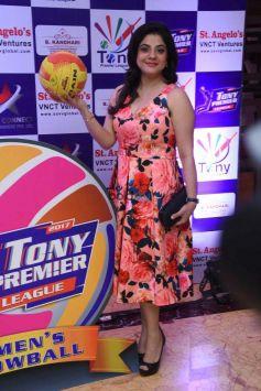 Launch Of Tony Premier League-Throwball (Women) At Taj Land End