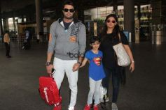 Manish Paul Spotted With Family At  Airport